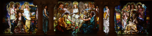 """Education,"" 1890, by Louis Comfort Tiffany and Tiffany Studios."