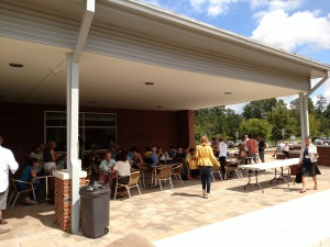 Lunch break at the CCCC plaza